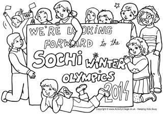 Free Winter Olympics Coloring Printable: Winter Olympics Crafts for Kids. #StayCurious