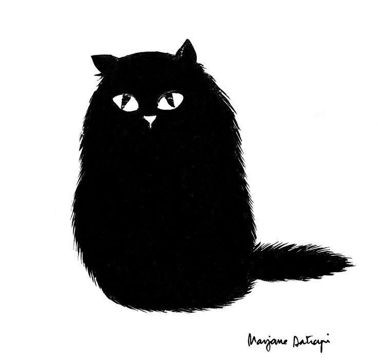 {black cat} by Marjane Satrapi