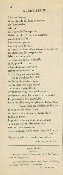 Céline Arnauld Poetry