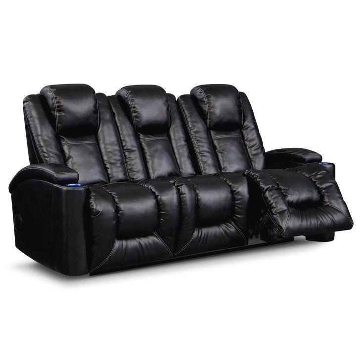 Movie Watcher Polaris Leather Power Reclining Sofa Value
