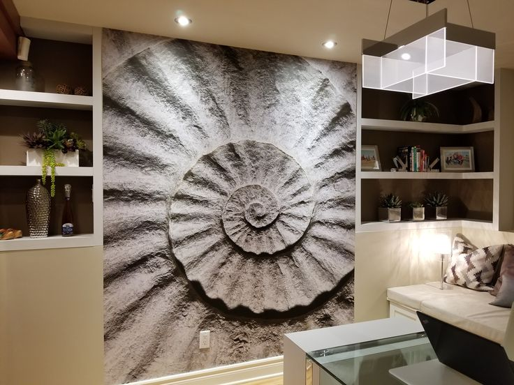 Shell Fossil. A wallpaper mural from www.muralunique.com. Thanks to Nathalie from Intérieurs Griffés for the beautiful pictures! www.muralunique.com | www.interieursgriffes.com