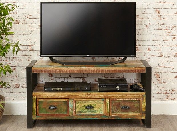Manhattan Television Cabinet   Manhattan Reclaimed Wood   Shop By Range
