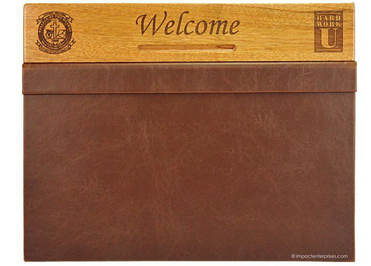 keeter center desk blotters faux leather desk blotter with magnetic flap solid mahogany - Desk Blotter