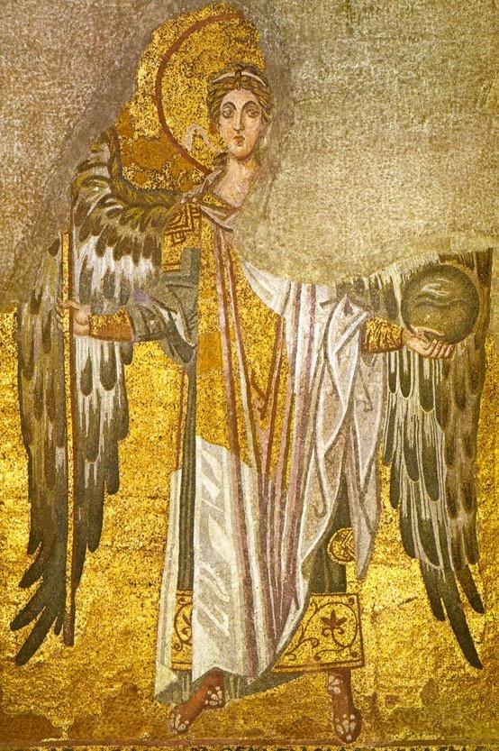 Archangel Michael  9th century, from the Hagia Sophia, Istanbul - Turkey
