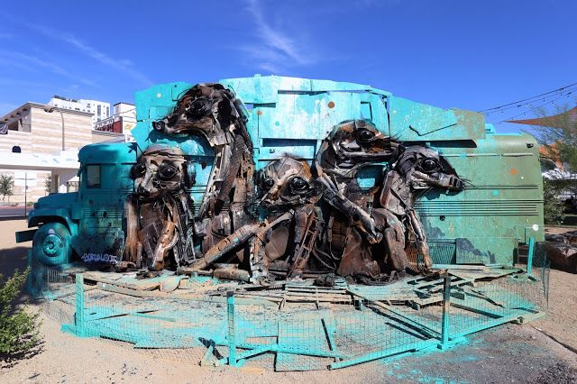 By Bordalo II at Life Is Beautiful Festival which was curated by JUSTKIDS.
