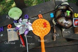 Alphabet treasure hunt. What a great idea!