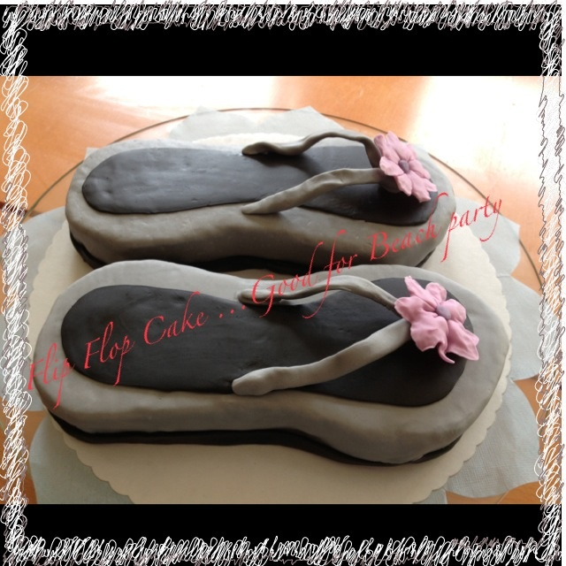 Flip flop cake Good for beach party...
