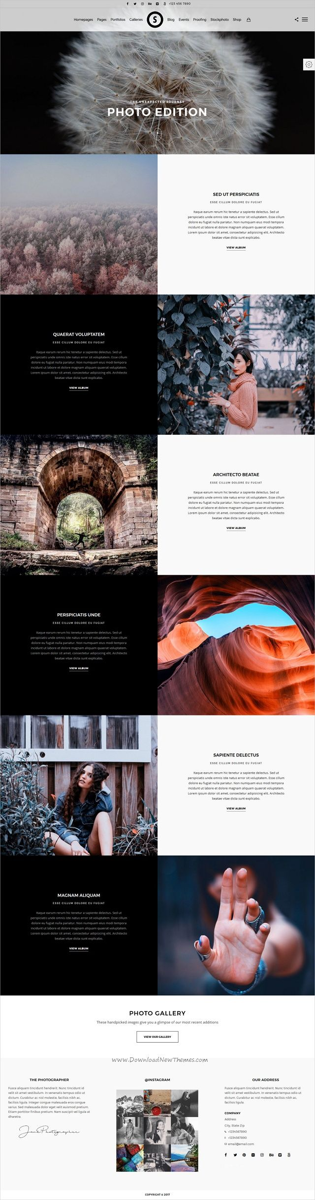 SceneOne is a feature rich responsive #WordPress theme for professional #photographers website with proofing, events, stockphoto galleries, fullscreens, portfolios and varieties of elements download now➩ https://themeforest.net/item/sceneone-photography-theme-for-wordpress/19591911?ref=Datasata