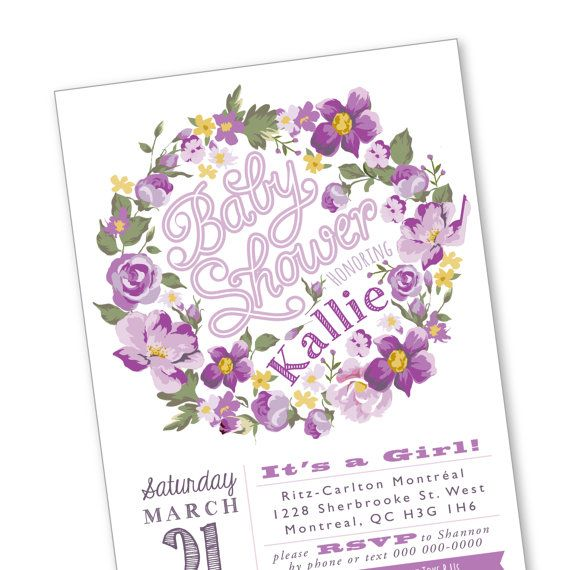 Baby Shower Invitation / vintage roses / by crazyfoxpaper on Etsy