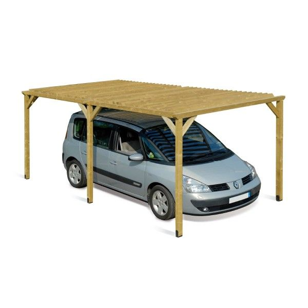 Best 25 carport en bois ideas on pinterest auvents de patio carports en b - Carport bois 2 pentes ...