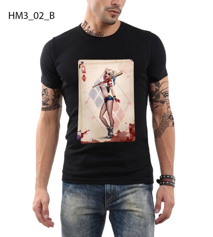 Suicide Squad T-shirt Slim Fit 100% Cotton Harley Quinn Retro Style T-shirt