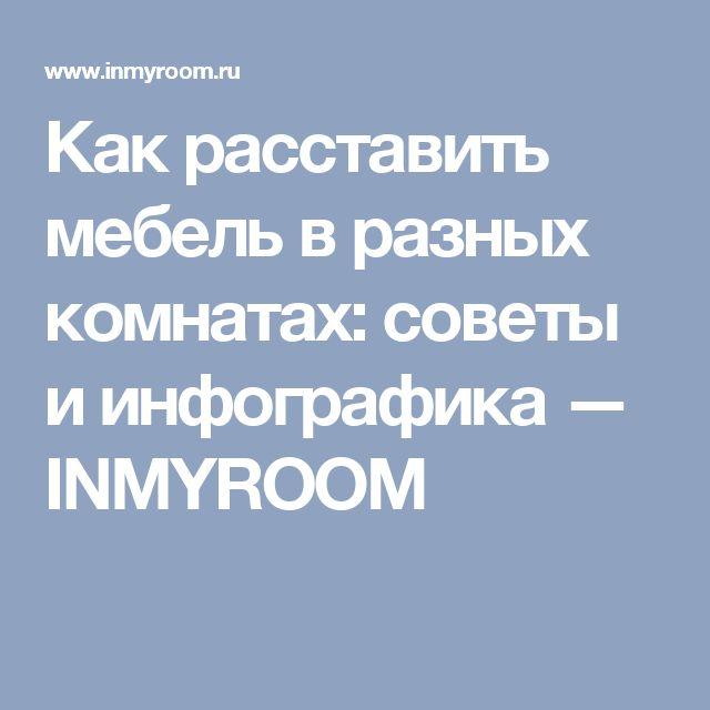 Как расставить мебель в разных комнатах: советы и инфографика — INMYROOM