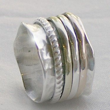 hammered silver jewelry. I love the natural look!