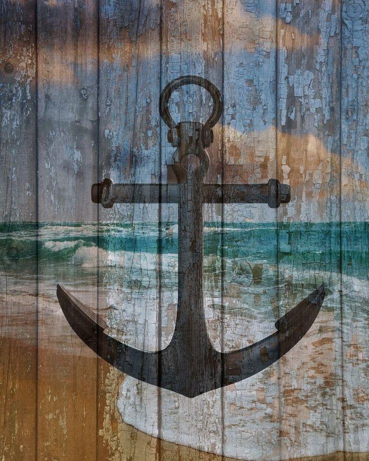 Nautical Bathroom Wall Decor : Rustic nautical wall art boat anchor ocean bedroom