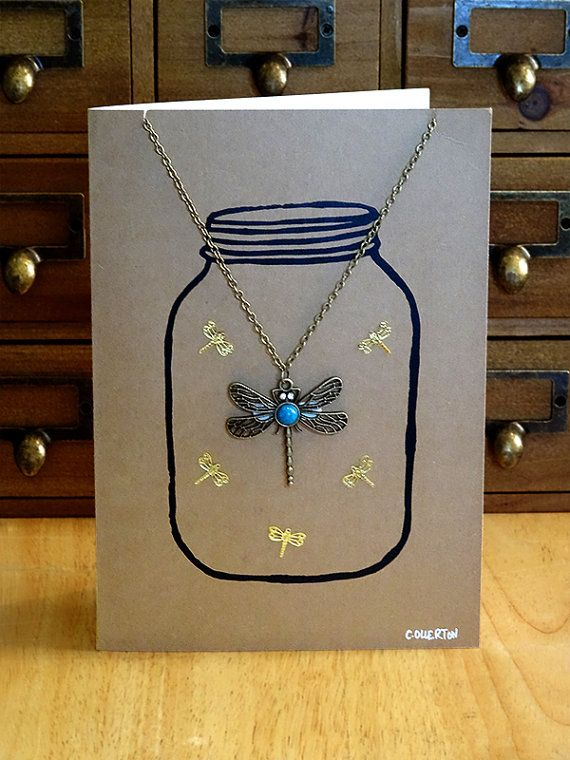 Dragonfly Pendant Necklace Card, Dragonfly Pendant, Dragonfly Necklace, Dragonfly Chain, Dragonfly Jewellery, Dragonfly Gifts, Charms