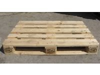Treated and heated wooden pallets and used one's as well, we sell pallets of all sizes and shapes, from the euro pallets to the standard size pallets, we also make your specification of pallets once you describe it to us. we deliver the pallets to anywhere in South Africa