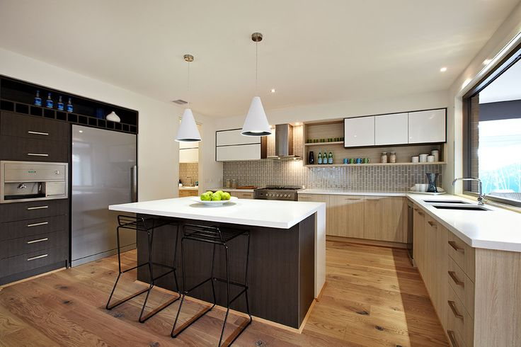 #kitchen #modern kitchen Carlisle homes Australia, caesar stone pure white