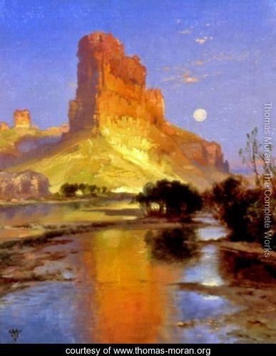 Thomas Moran. Castle Butte, Green River Wyoming.