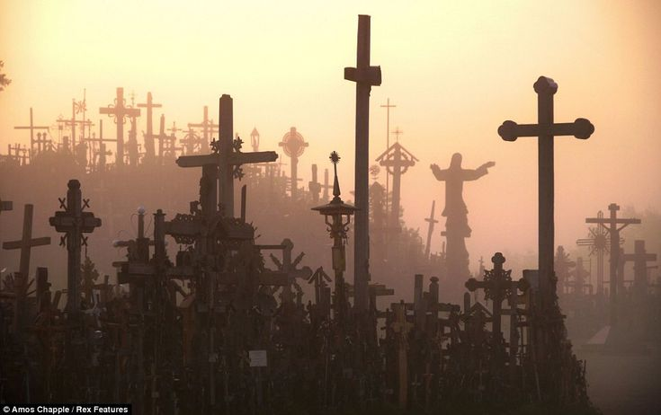 The Hill Of Crosses stands about 12 km north of the city of Šiauliai, Lithuania, which was captured by Germany in WWII. After the war, it once again came under the control of Russia - by 1940, 400 large symbolic crosses stood on the hill, surrounded by thousands of smaller ones. During 1961, 1973 and 1975, the Soviet government ordered the hill to be leveled. The crosses were burned or turned into scrap metal. However, the hill is still OVERFLOWING with crossed - large and small - to this…