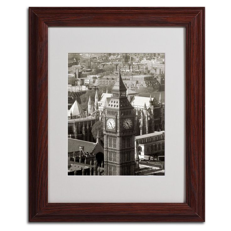 Big Ben View II by Chris Bliss Matted Framed Photographic Print
