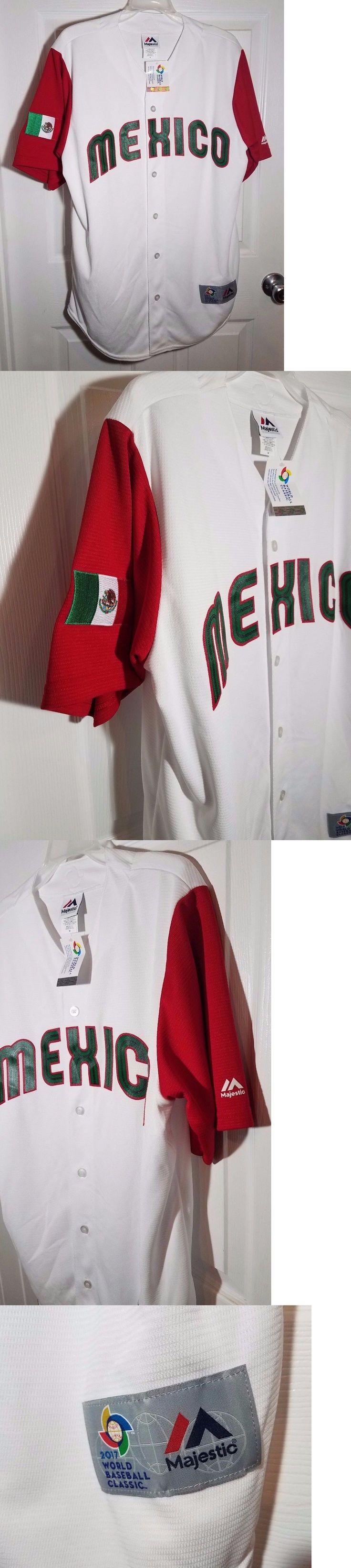 Baseball-Other 204: Majestic Wbc Mexico 2017 World Baseball Classic Home Jersey Men S Sz Medium New -> BUY IT NOW ONLY: $60 on eBay!