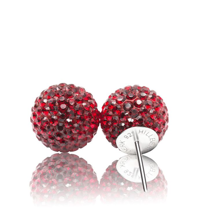 Sparkle Ball Stud Earrings – Hillberg & Berk - Burgundy