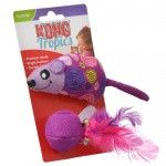 Kong Tropics Mouse and Ball Cat Toy with Catnip