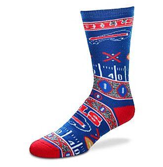 For Bare Feet NFL® Buffalo Bills Men's Graphic Crew Socks