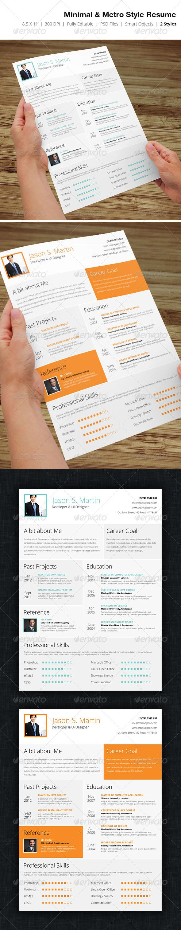 Metro & Minimal Style Business Resume - 02