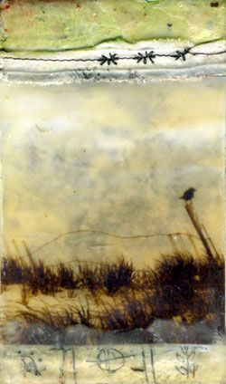 encaustic by Bridgette Guerzon Mills