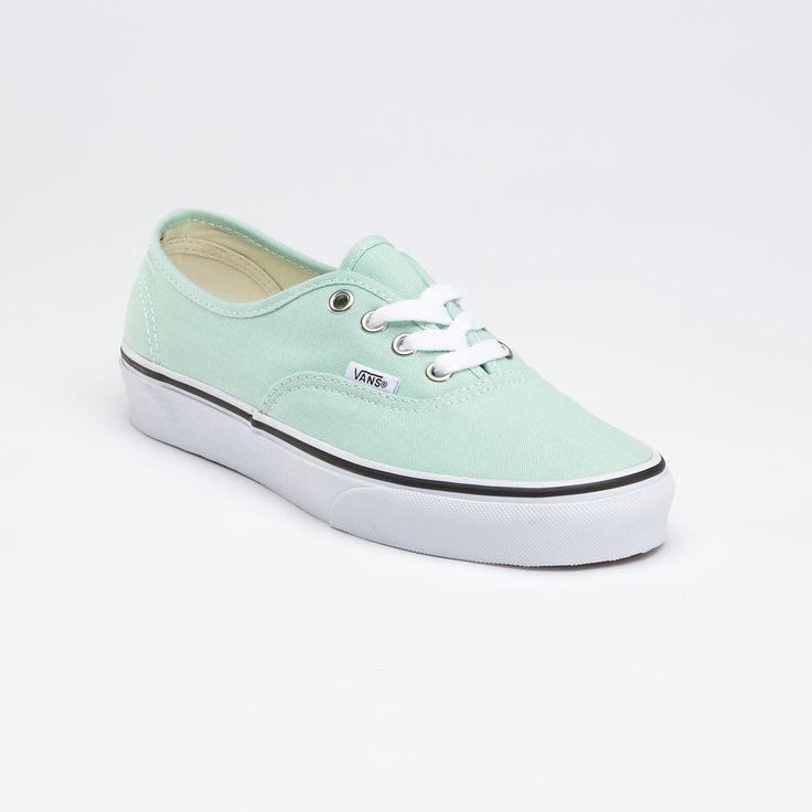 like these lotsDaughters Shoes, Mint Vans, Mint Green Vans, Gossamer Green Vans, Canvas, Vans Authentic, Van Shoes, Fashion Looks, Tennis Shoes