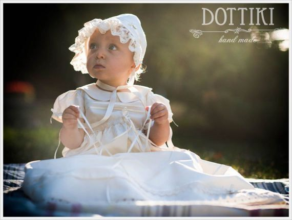 Christening Silk Gown Baptism Dress Baptism Gown