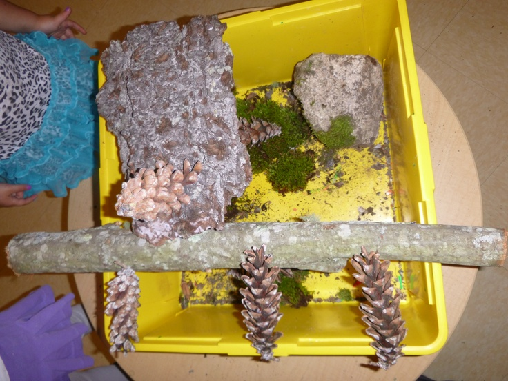 building with natural materials in preparation for creating our tree house.