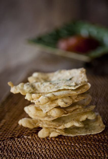 Our home-made version of Krupuk, the traditional Balinese version of papadoms