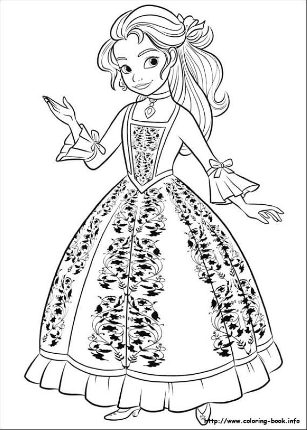 Princess Isabel Elena Of Avalor Coloring Page Disney Coloring
