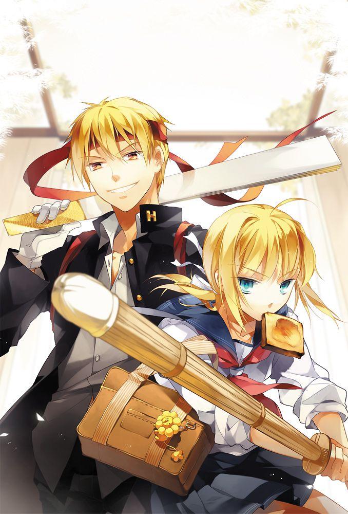 【Fate/Zero】ギルガメッシュ×セイバーのカップリングイラストまとめ【金剣】
