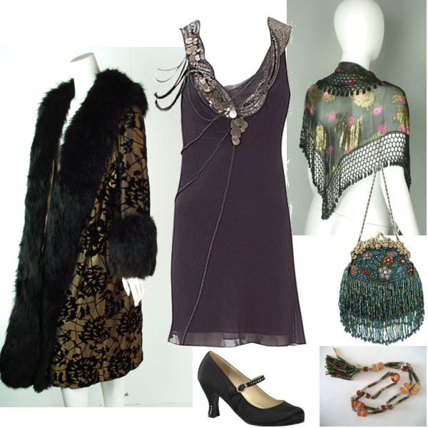 Authentic looking outfit for the Roaring '20s fashion mission on shopforfun.com, styled by Meredith