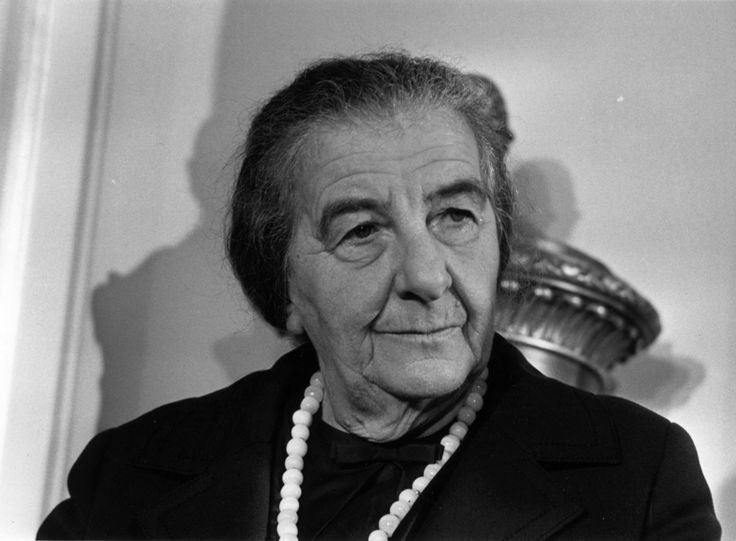 """""""But it is the men who are attacking the women. If there is to be a curfew, let the men stay at home."""" Golda Meir, the fourth prime minister of Israel, on the request for a women's curfew during a series of rapes. (photo via motleynews.net)"""