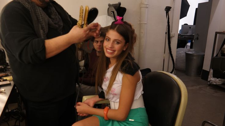 Chiara Nasti #newface #maisonespin #ss14 #collection #lovely #backstage #madewithlove