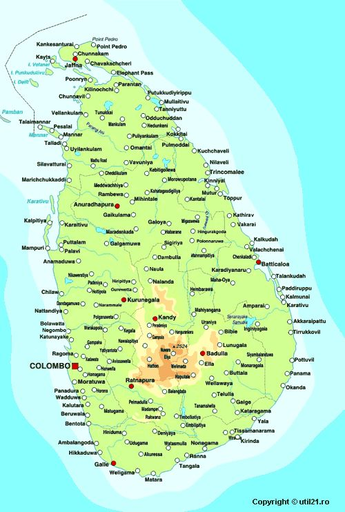 Map of Sri Lanka, maps, worl atlas, Sri Lanka map, online maps, maps of the world, country maps, find any  world continent map, world flags