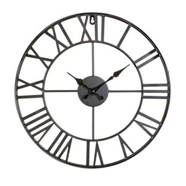 FICHE TECHNIQUE- Pendule vintage en métal.CARACTERISTIQUES TECHNIQUES- Dimensions : Diam. 40 cm.- Poids : 1,8 kg.- Fonctionne avec 1 pile LR6 non fournie.