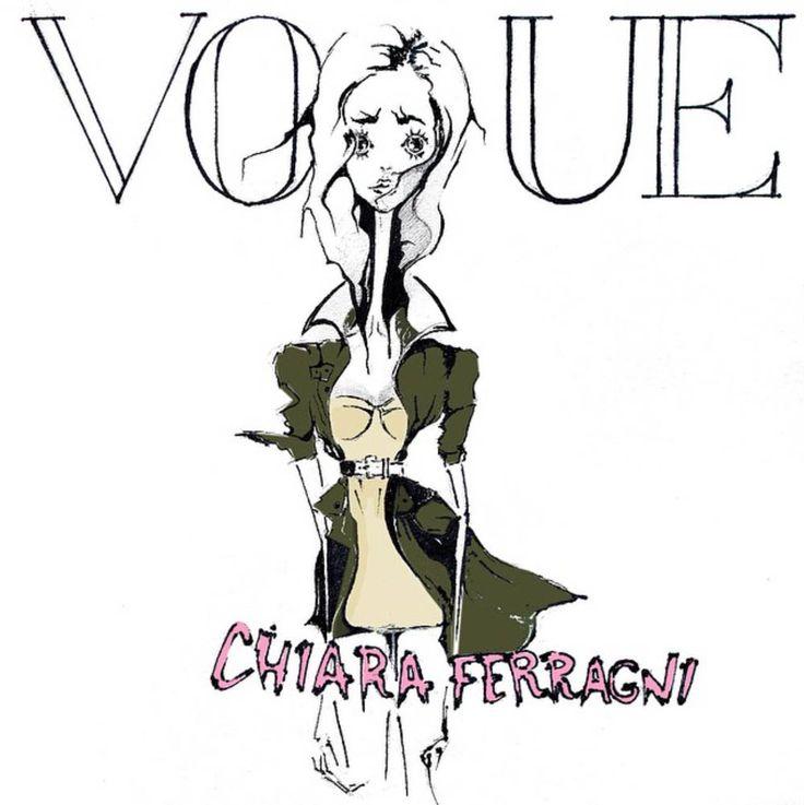 Chiara Ferragni for Vogue Spain. fashion illustration by Tio Torosyan