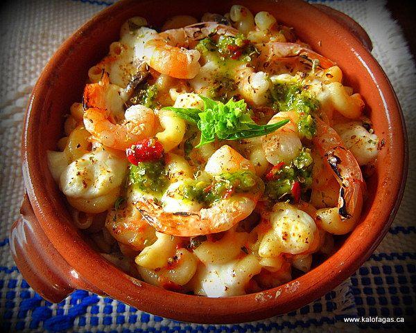 Shrimp, Macaroni & Feta - Already hungry for dinner!