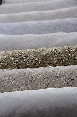 Tessuti in pizzo da sposa, con filo/pizzo di CHANTILLY/cotone, 120cm di larghezza, venduto da 0.5 Yard