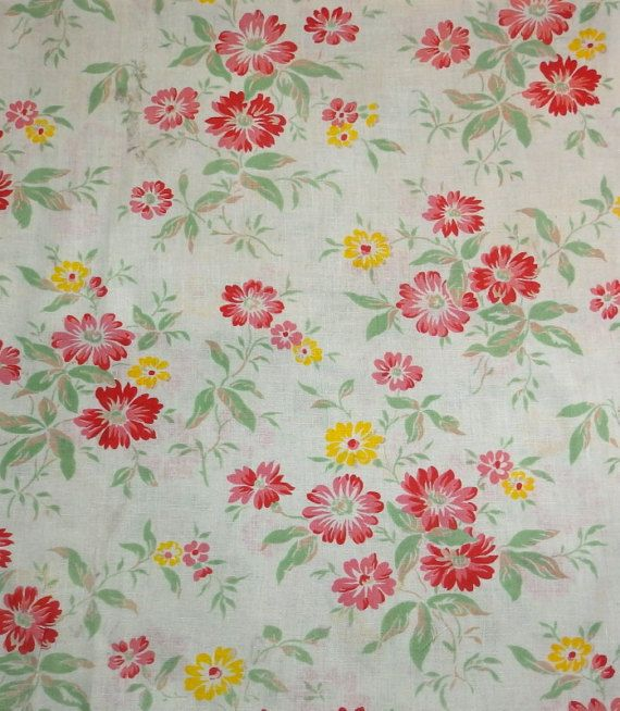 Vintage French fabric oh so pretty. by RagRescue on Etsy