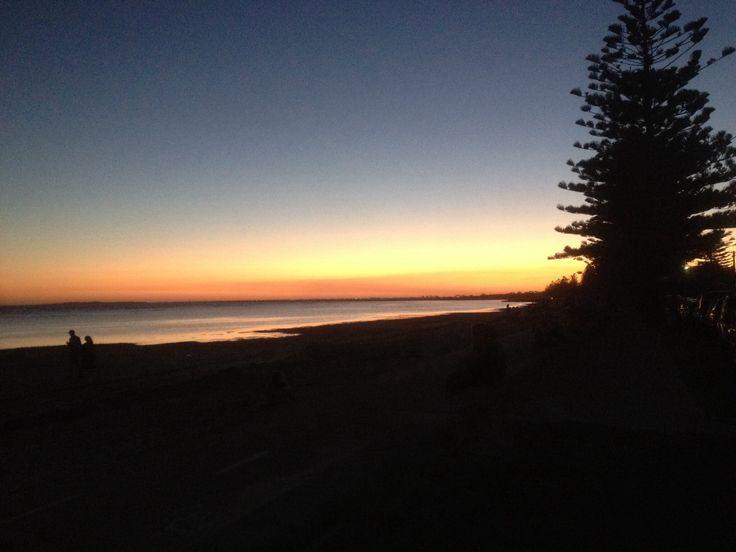 Sunset - altona beach NYE 2013.