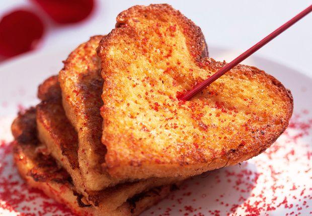 Cœur de pain perdu à l'eau de rose