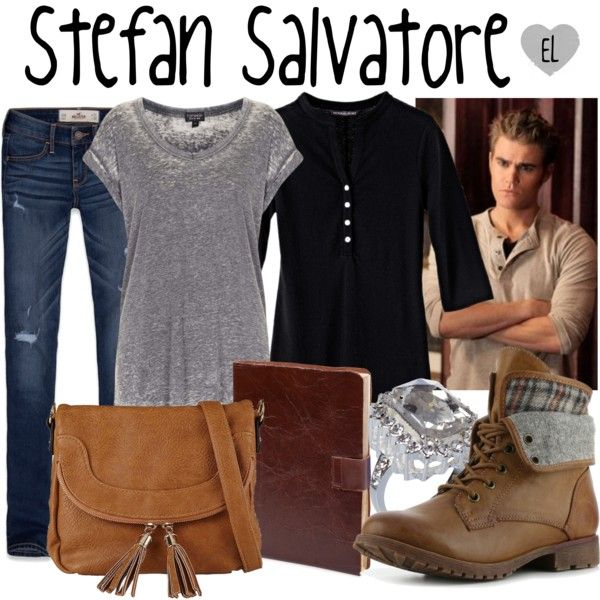 """Stefan Salvatore -- The Vampire Diaries"" by evil-laugh on Polyvore"