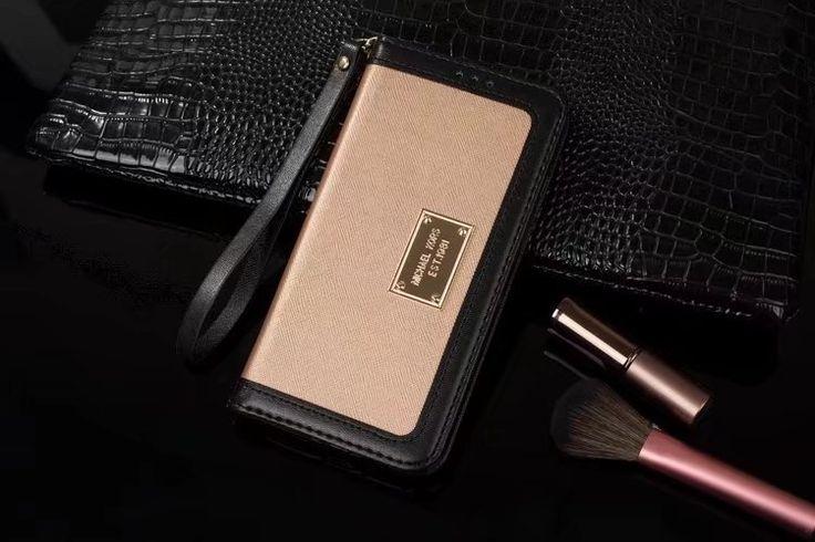 iphone8/7s/6s ケース 人気 ブランド マイケルコースMK配色6plus手帳型ストラップ付きアイフォン7/6sカード収納携帯カバーシンプル財布型スマホケース成熟大人