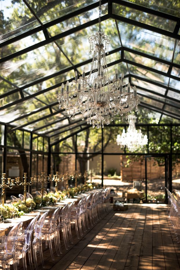 A Gorgeous Glass Marquee Wedding in the Woods: JJ & Hanli | OneFabDay.com